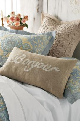Bonjour/Bonne Nuit Pillow