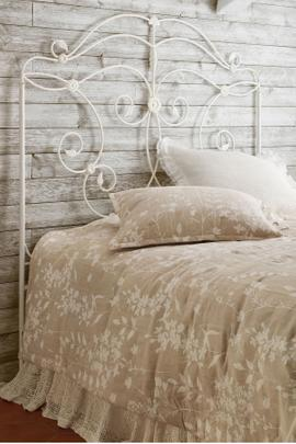 Denice Metal Scroll Headboard