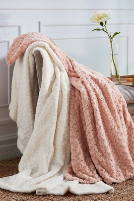 Boule Lightweight Faux Fur Euro Throw