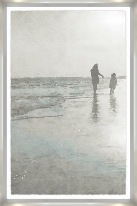 Children at the Shore Framed Art
