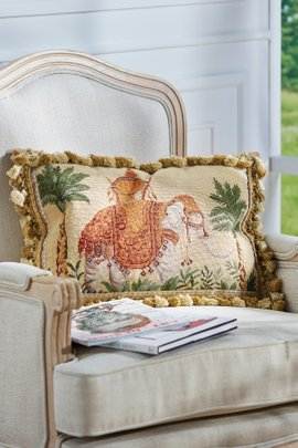 Raja Needlepoint Pillow