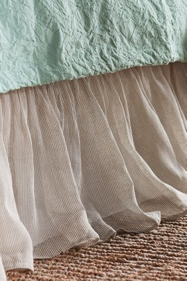 Elysée Striped Linen Bedskirt