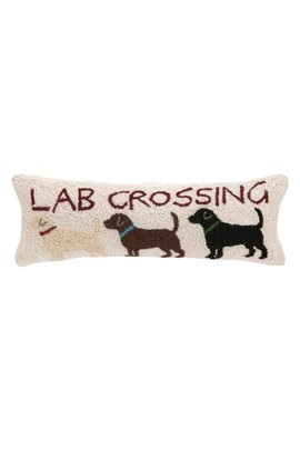 Lab Crossing Hooked Pillow