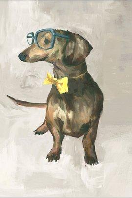 Hipster Dogs Giclée