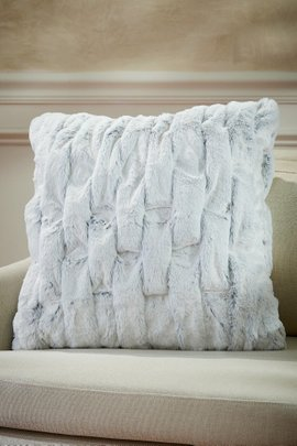 La Parisienne Faux Fur Square Pillow