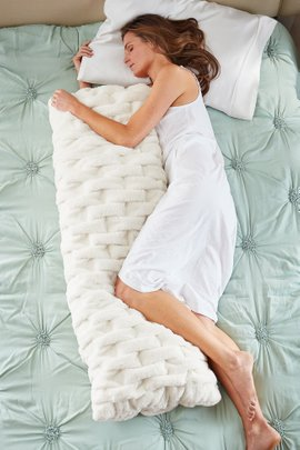 La Parisienne Faux Fur Body Pillow