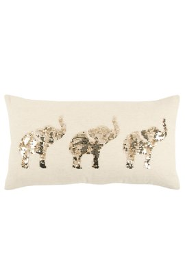 Elephant Sequin Pillow