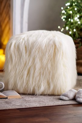 Khloe Faux Fur Pouf