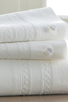 Antonia Eyelet Sheet Set