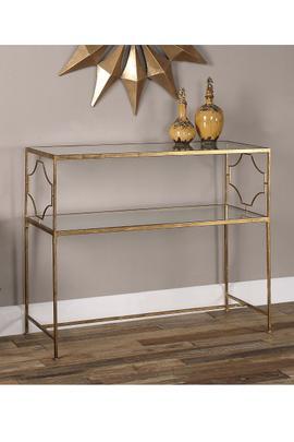 Jocelyn Metal Console Table
