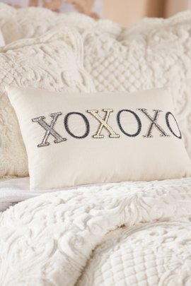 Hugs and Kisses Embellished Pillow