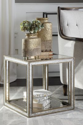 Sloane Mirrored Accent Table