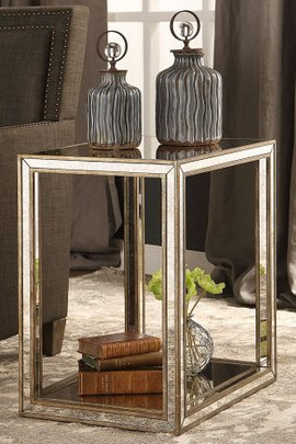 Sloane Mirrored Side Table