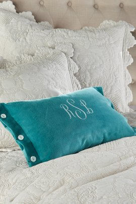 Fayette Velvet Accent Pillow