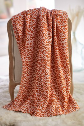 Leopard Chenille Coverlet