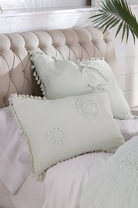Ashbury Crochet Medallion Bed Sham