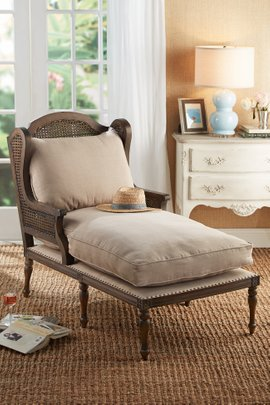 Le Touquet Caned Chaise