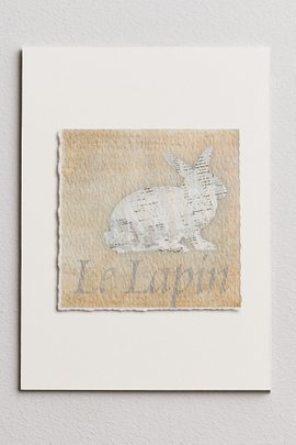Les Animaux Deckled Edge Print