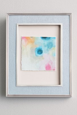 Watercolor Petals Deckled Edge Print