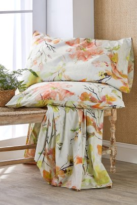 Watercolor Garden Sheet Set