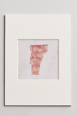 State Matted Print