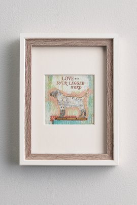 Love is a Four-Legged Word Matted Print