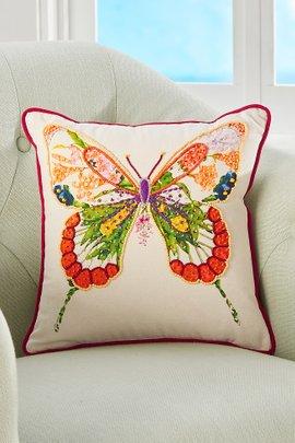 Papillon Beaded Pillow