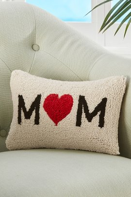 Mom Hooked Pillow