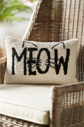 Meow Hooked Pillow