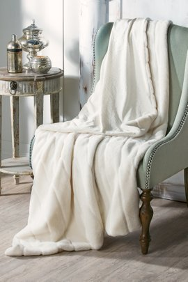 Annalise Patterned Faux Fur Throw