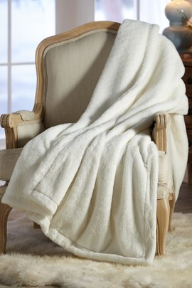 Brillante Faux Fur Throw