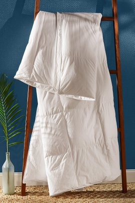 European White Goose Down Comforter