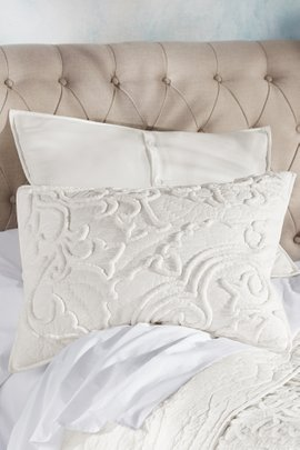 Costa Blanca Chenille Bed Sham