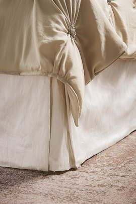 Tailored Silk Provencal Bedskirt