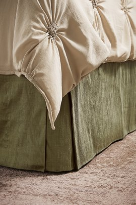 Tailored Silk Provencal Bedskirt