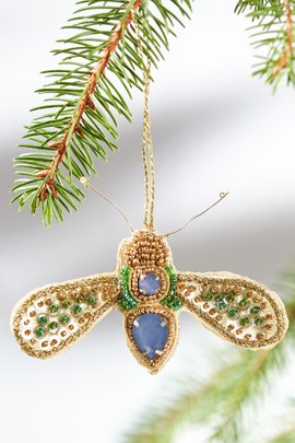 Beaded Bee Ornaments