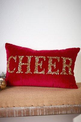 Cheer Beaded Pillow