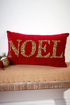Noel Beaded Pillow