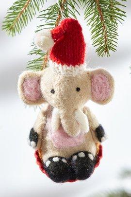 Sledding Ernest Elephant Ornament