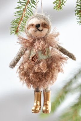 Sally the Sloth Ornament
