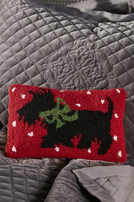Scottie Holiday Pillow