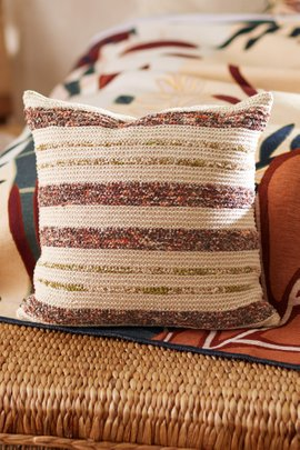 Reclaimed Sari Square Decorative Pillow