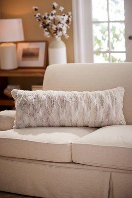 La Parisienne Faux Fur Lumbar Pillow