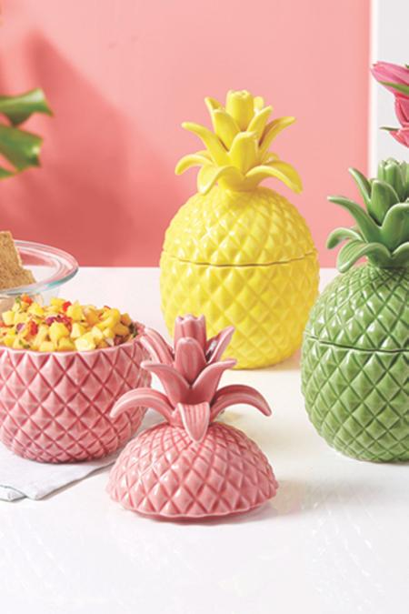 Colorful Pineapple Canister