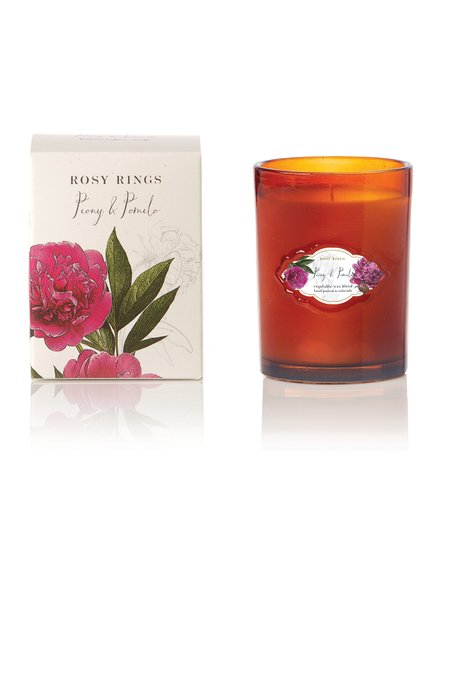 Rosy Rings Peony & Pomelo Signature Glass Candle