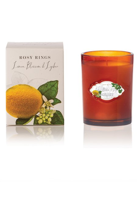 Rosy Rings Lemon Blossom & Lychee Signature Glass Candle