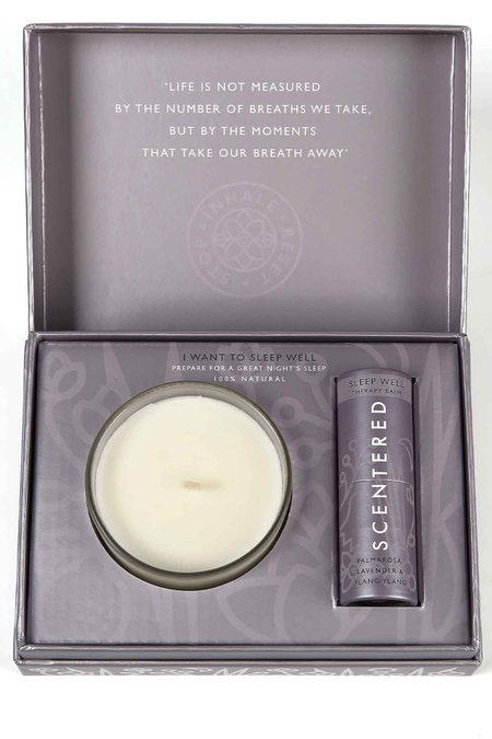 Scentered I Want To Feel Balm & Candle Set