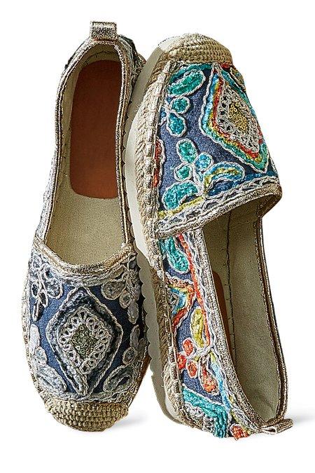 Agleam Embroidered Espadrilles
