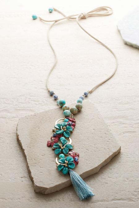 Floral Cascade Pendant Necklace
