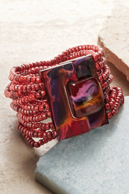 Marbleized Buckle Bracelet